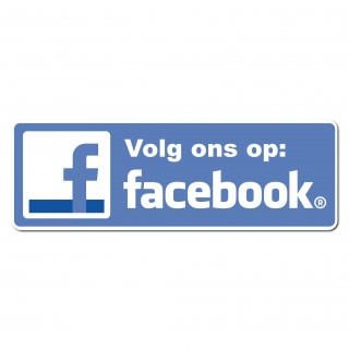 Facebook Sticker volg ons type 1