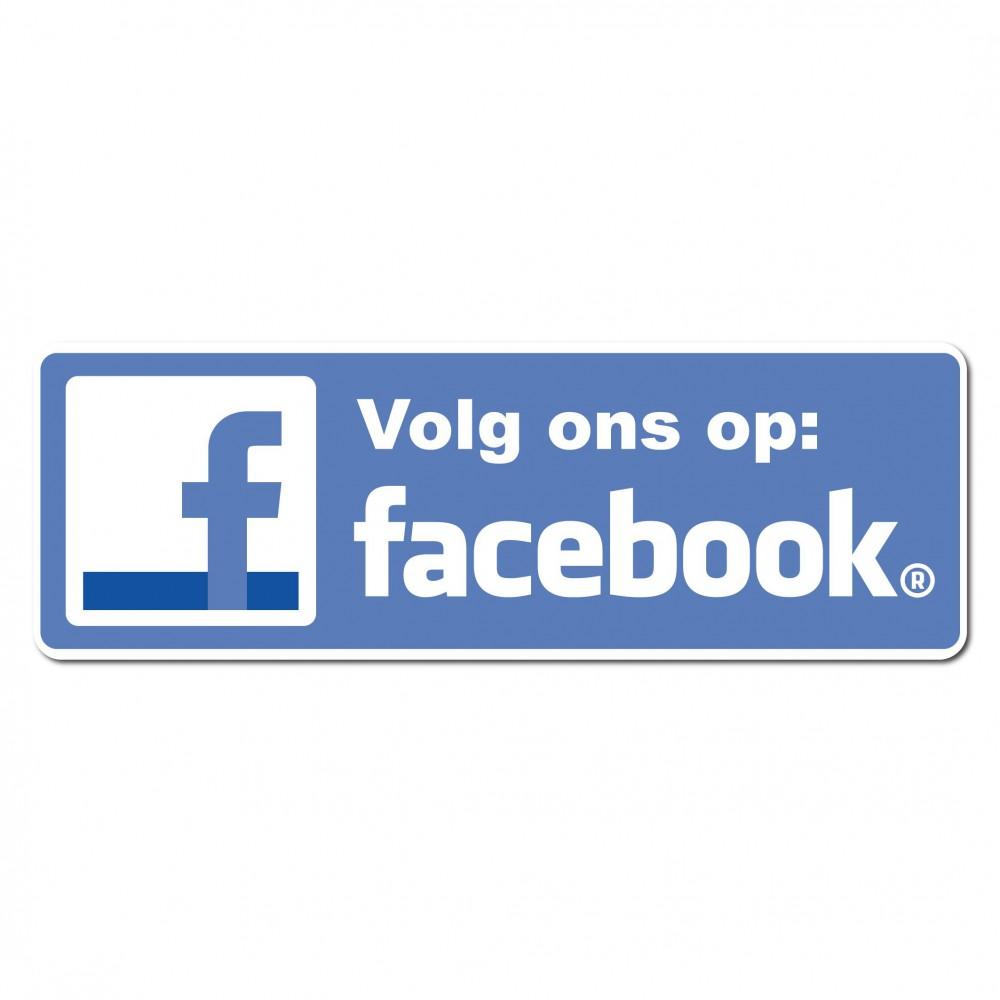 Facebook Sticker volg ons type 1