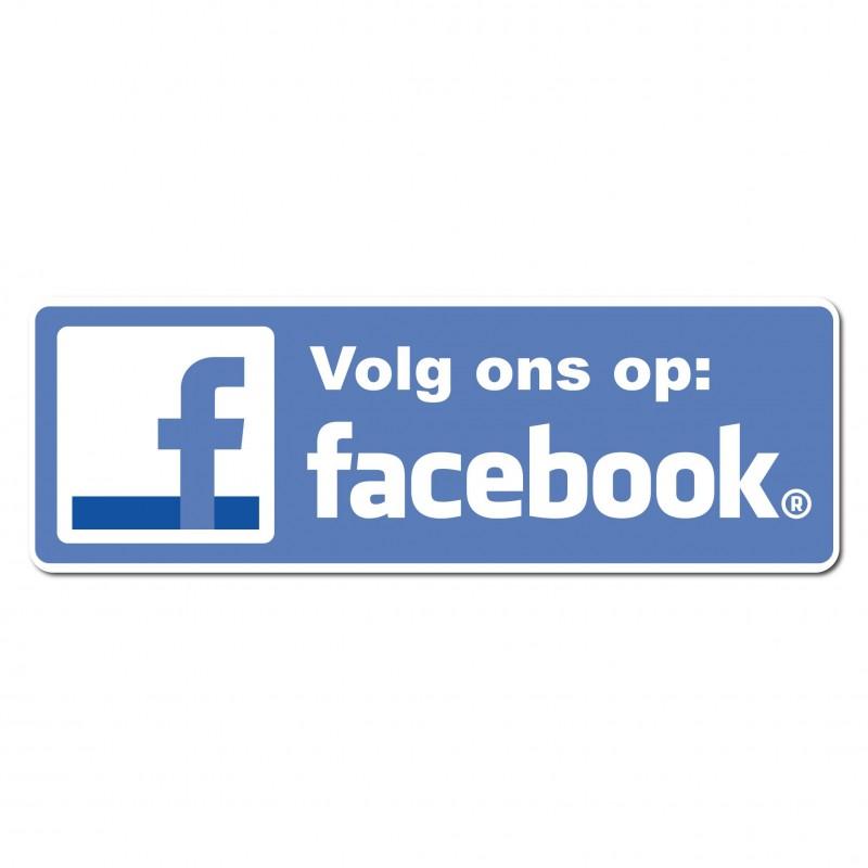 Facebook Sticker volg ons type 1 foto van de sticker