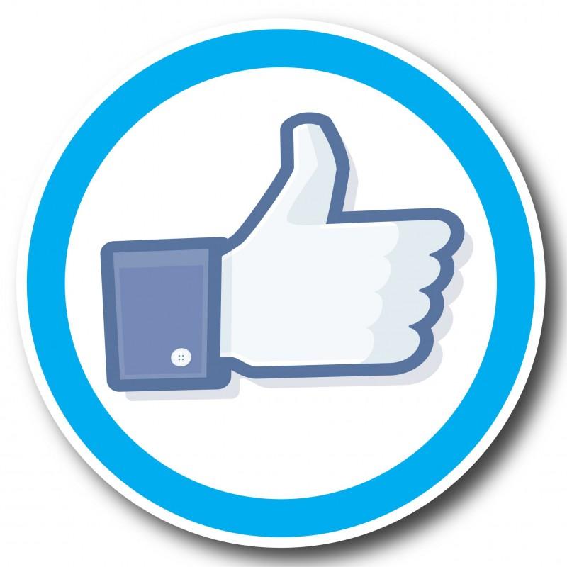 Facebook set van 50 stuks Rond 5 cm