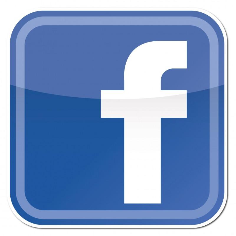 Facebook F ronde hoeken Stickers set