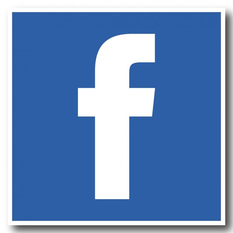 Facebook F vierkant Stickers set
