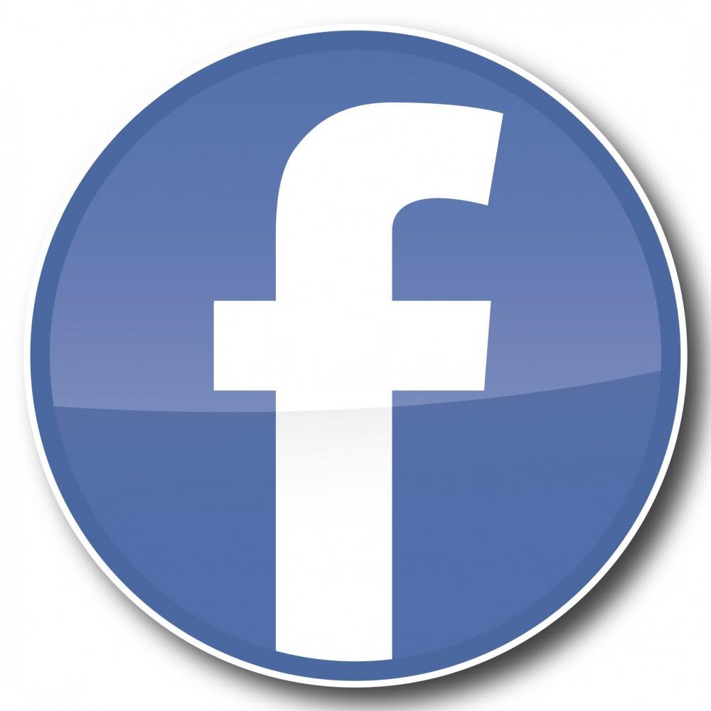 Facebook F Cirkel Stickers set
