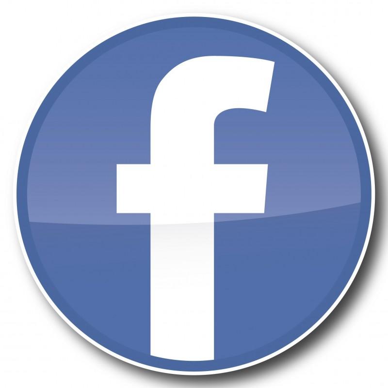 Facebook F rondjes Stickers set