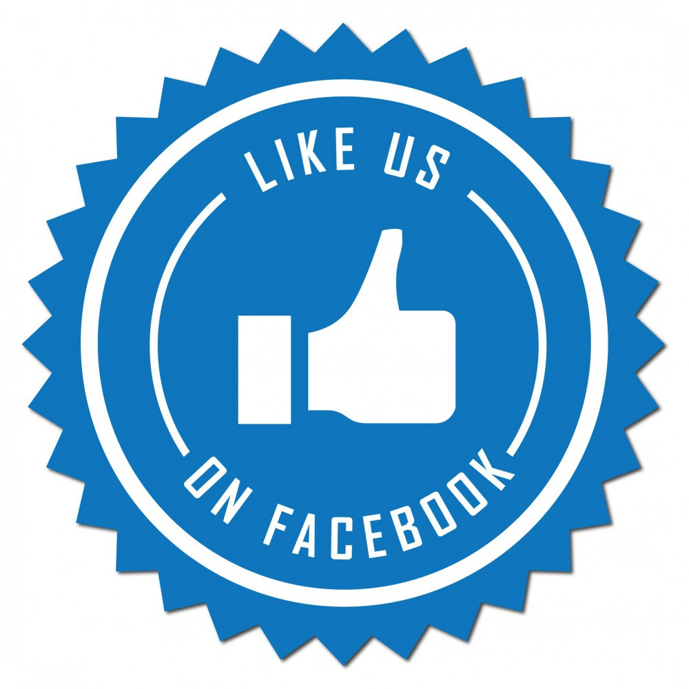 Like us on facebook Sticker set