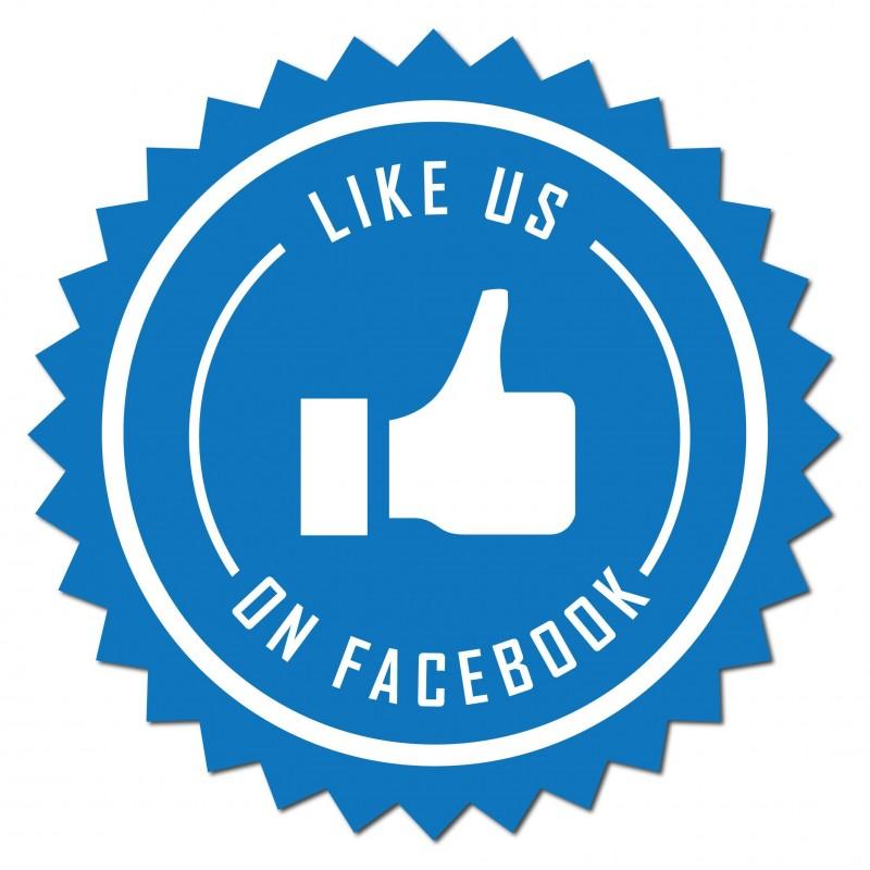 Like us on facebook Sticker set