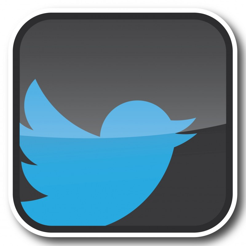 Twitter trendy nieuw logo Stickers set