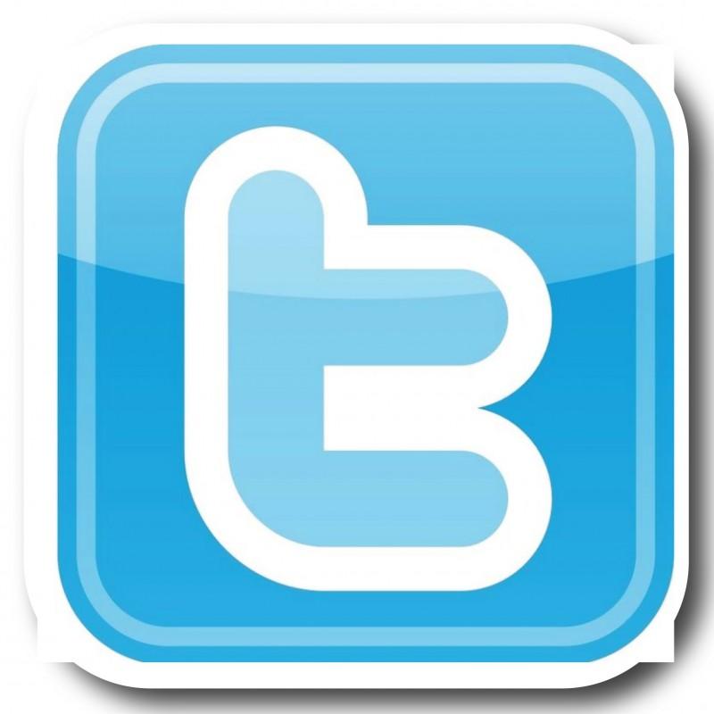 Twitter T ronde hoeken Stickers set