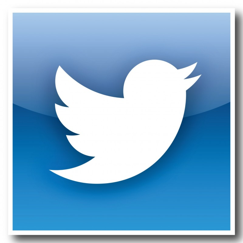 Twitter nieuwste logo vierkant Stickers set