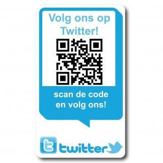 QR code Volg ons op Twitter Stickers