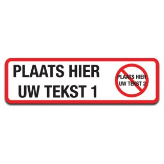 Auto Bumpersticker I Hate Tekst