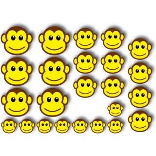 Aapjes Fiets stickers