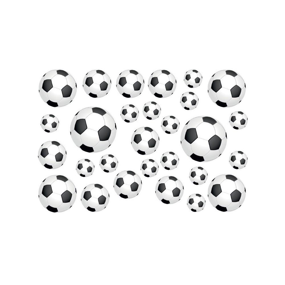 Fietsstickers voetballen set