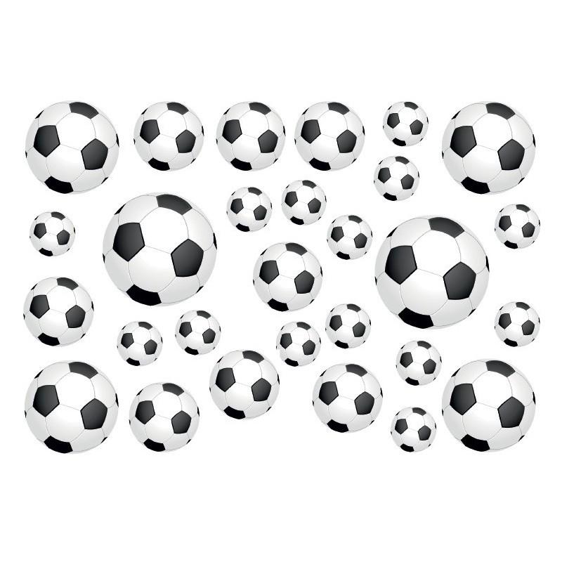Fiets stickers voetballen set