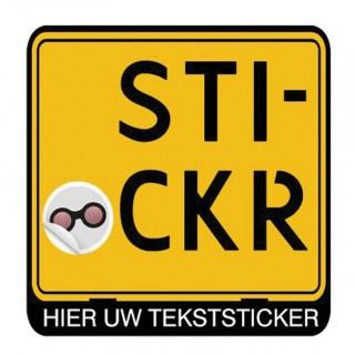 Scooter Kentekensticker Eigen Tekst