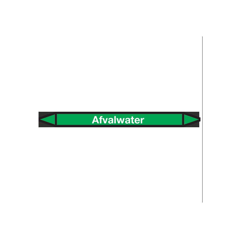 Afvalwater Pictogramsticker Leidingmarkering