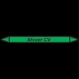 Afvoer-CV Pictogramsticker Leidingmarkering