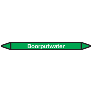 Boorputwater Pictogramsticker Leidingmarkering