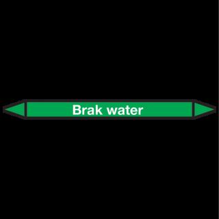 Brak-water Pictogramsticker Leidingmarkering