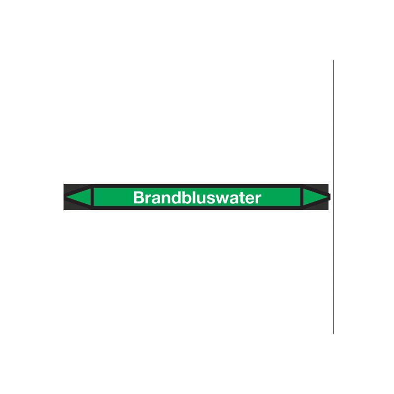 Brandbluswater Pictogramsticker Leidingmarkering