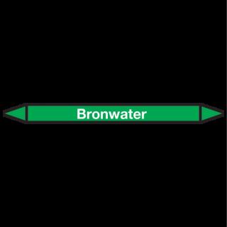 Bronwater Pictogramsticker Leidingmarkering