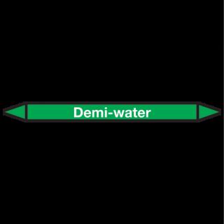 Demi-water Pictogramsticker Leidingmarkering