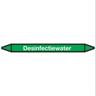 Desinfectiewater Pictogramsticker Leidingmarkering