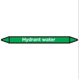 Hydrant-water Pictogramsticker Leidingmarkering