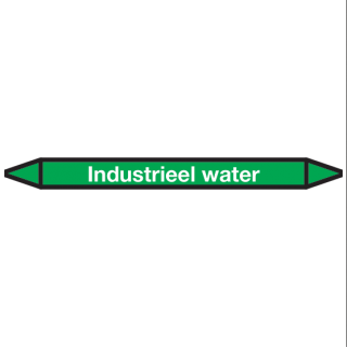 Industrieel-water Pictogramsticker Leidingmarkering