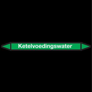 Ketelvoedingswater Pictogramsticker Leidingmarkering