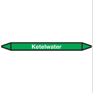 Ketelwater Pictogramsticker Leidingmarkering