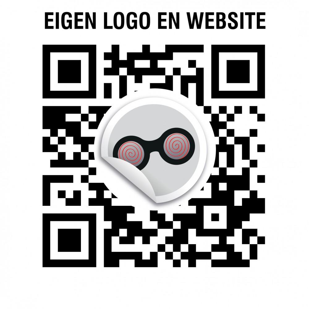 QR code Eigen Logo en URL stickers