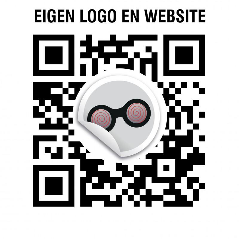 QR code eigen logo stickers