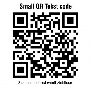 QR code Tekst stickers