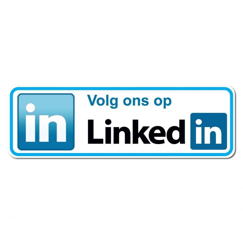 Linkedin Sticker volg ons