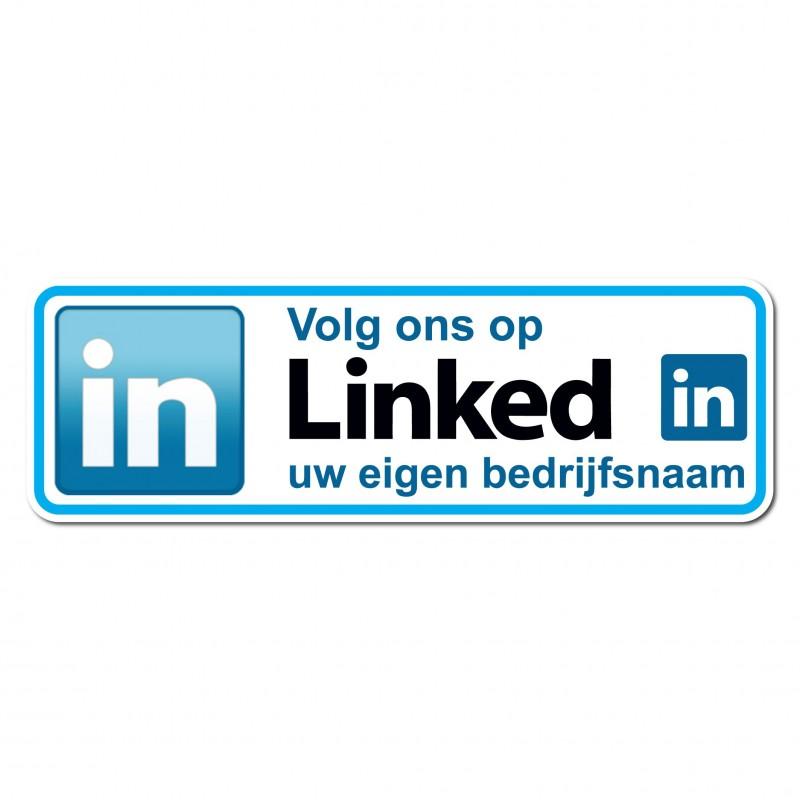 eigen URL linkedin sticker