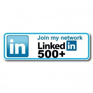Linkedin follow my network 500 Sticker