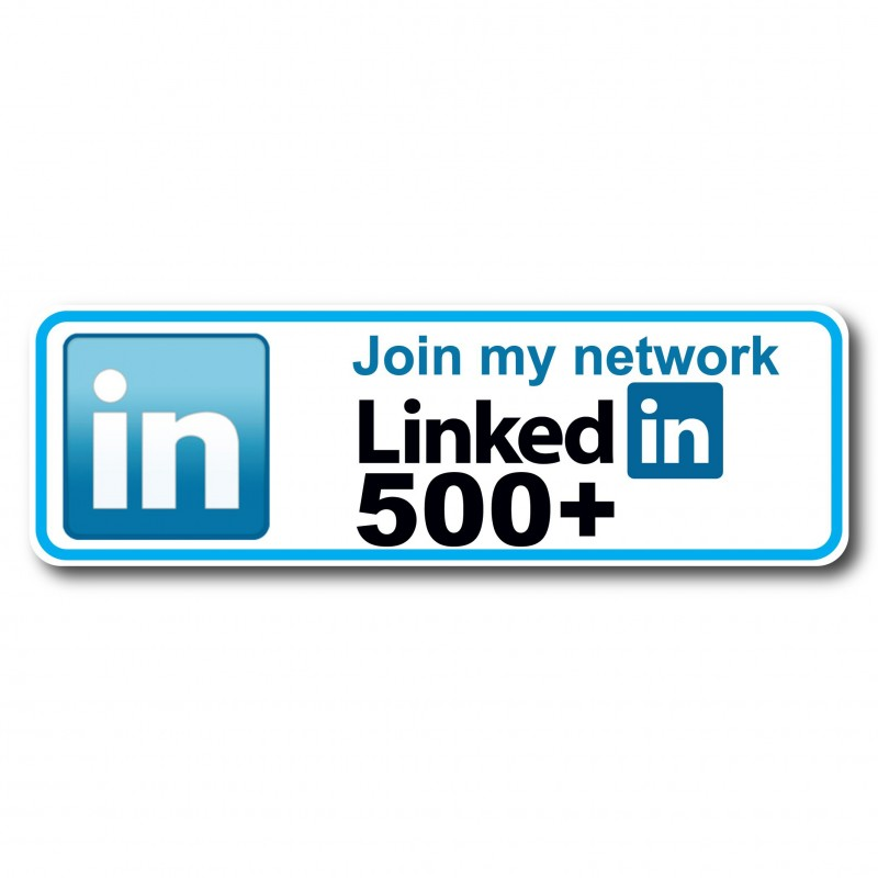 Linkedin follow my network 500 Sticker