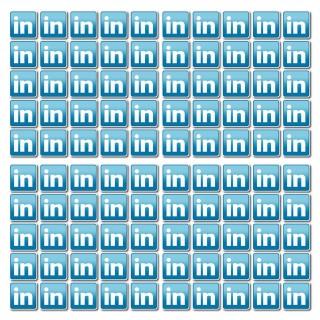 Linkedin set van 100 stuks Vierkant Stickers