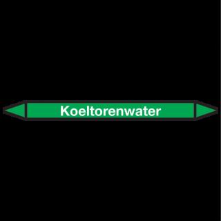 Koeltorenwater Pictogramsticker Leidingmarkering