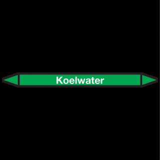 Koelwater Pictogramsticker Leidingmarkering