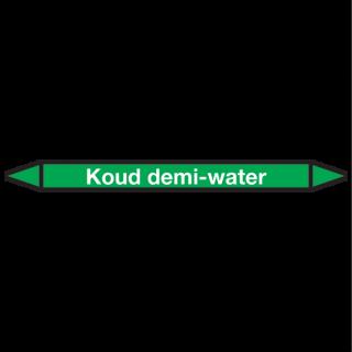 Koud-demi-water Pictogramsticker Leidingmarkering