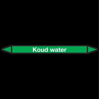 Koud-water Pictogramsticker Leidingmarkering