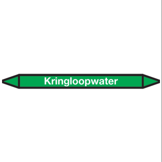Kringloopwater Pictogramsticker Leidingmarkering