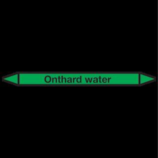 Onthard-water Pictogramsticker Leidingmarkering