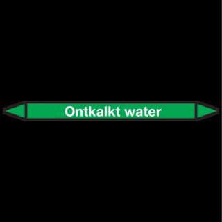 Ontkalkt-water Pictogramsticker Leidingmarkering