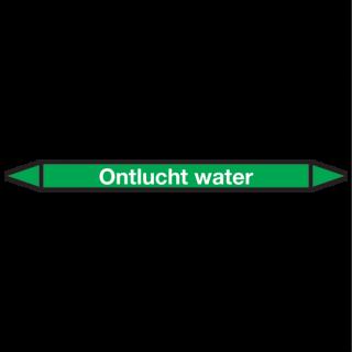 Ontlucht-water Pictogramsticker Leidingmarkering