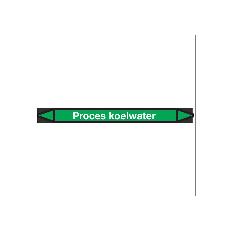 Proces-koelwater Pictogramsticker Leidingmarkering