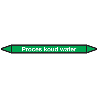 Proces-koud-water Pictogramsticker Leidingmarkering