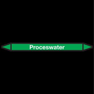 Proceswater Pictogramsticker Leidingmarkering